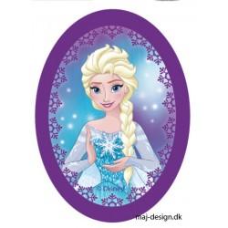 Elsa Printet strygelap oval 11x8 cm