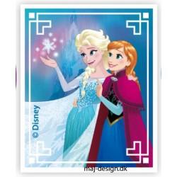 Anna & Elsa Printet strygmærke 7,5x6 cm