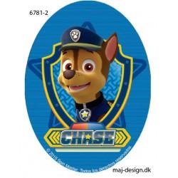 Chase Paw Patrol Printet strygelap oval 11x8 cm
