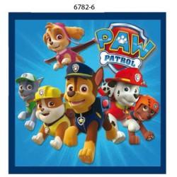 Paw Patrol Printet strygemærke 7x7 cm