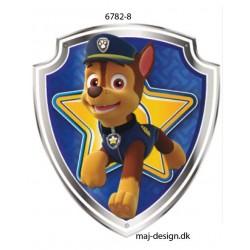 Chase Paw Patrol Printet strygemærke 7x6,5 cm