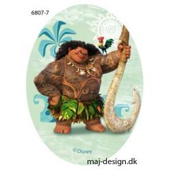 Maui Printet strygelap oval 11x8 cm