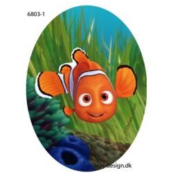 Nemo Printet strygelap oval 11x8 cm