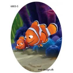 Nemo & Malin Printet strygelap oval 11x8 cm
