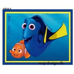 Dory & Nemo Printet strygemærke 5,5x7 cm