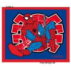 Spider-man printet strgemærke 5,5x6,5 cm