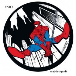 Spider-man printet strygemærke Ø 6,5 cm