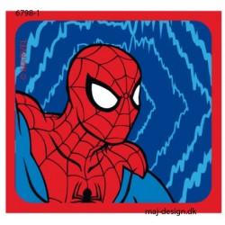 Spider-man printet strygemærke 6x6,5 cm