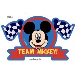Mickey Mous printet strygemærke 10x7 cm