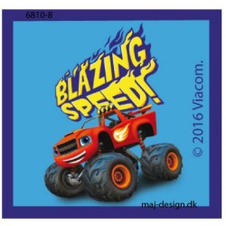 Blaze Monster Machines printet strygemærke 5,5x6 cm