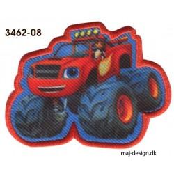 Blaze Monster Machines Broderet strygemærke 5x7 cm