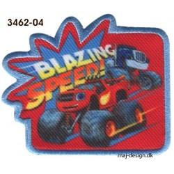 Blaze Monster Machines Broderet strygemærke 7x6 cm