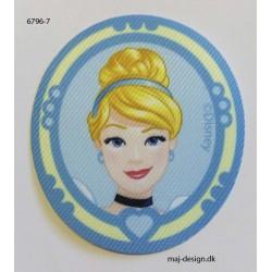 Askepot Disney Prinsesse printet strygemærke 7x6 cm