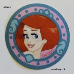 Ariel Disney prinsesse Printet strygemærke Ø 6,5 cm