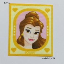 Bell Disney prinsesse Printet strygemærke 6,5x5,5 cm