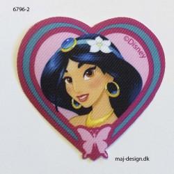 Jasmin Disney prinsesse Printet strygemærke 6x7 cm