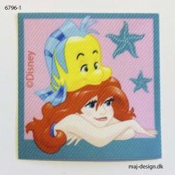 Ariel & Tumle Printet strygemærke 5,5x5,5 cm