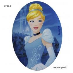 Askepot Disney Prinsess printet strygelap oval 11x8 cm