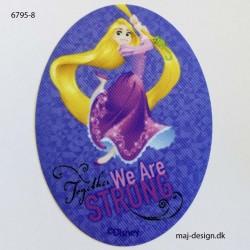 Rapunzel Disney prinsesse printet strygelap oval 11x8 cm