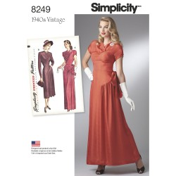 1940´Vintage Kjole simplicity snitmønster 8249
