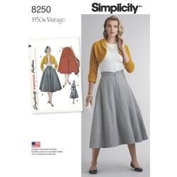 1950´Vintage nederdel og jakke snitmønster