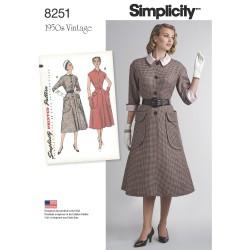 1950´Vintage Kjole Simplicity snitmønster 8251