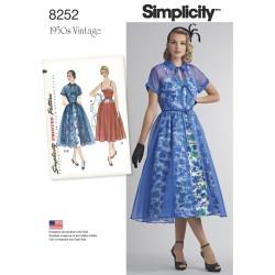 1950´vintage kjole snitmønster