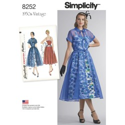 1950´vintage kjole Simplicity snitmønster 8252