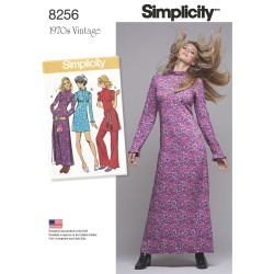 1970´vintage kjole og tunika simplicity snitmønster 8256