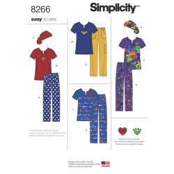 Scrub arbejdstøj bluse, bukser og tørklæde snitmønster 8266 easy