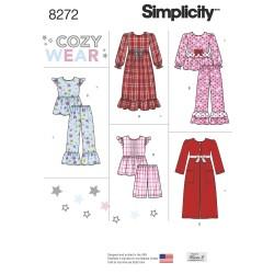 Natkjole og pyjamas til piger snitmønster