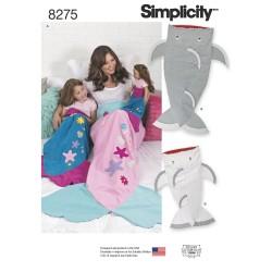 Haj tæppe sovepose børn/voksen snitmønster 8275