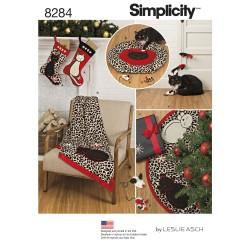 Katte tæppe og katte seng snitmønster 8284