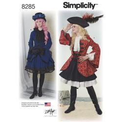 Kostume voksen pirat jakke snitmønster 8285