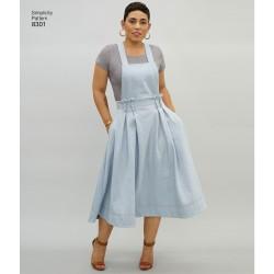 Overalls og nederdel m/seler også plusmode MimiGstyle snitmønster