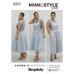 Overalls og nederdel m/seler plusmode MimiGstyle snitmønster
