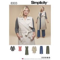 Vest, bukser, tunika og jakke plusmode snitmønster
