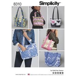 Skulder taske snitmønster 8310 Simplicity