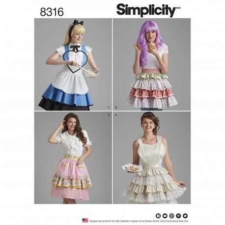 Forklæder snitmønster 8316 Simplicity