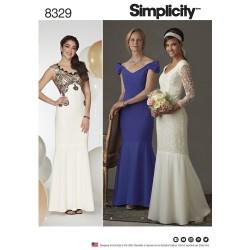 Brudekjole snitmønster 8329 Simplicity