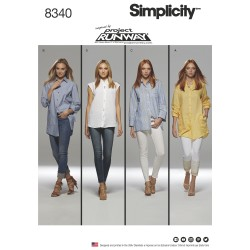 Storskjorte snitmønster 8340 Simplicity