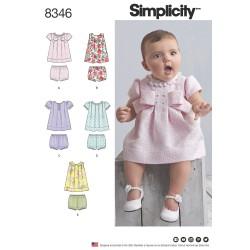 Babykjole og bukser snitmønster