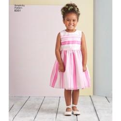 Brudepige kjole sommerkjole snitmønster 8351 Simplicity