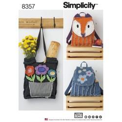 Rygsæk og indkøbsnet snitmønster 8357 Simplicity