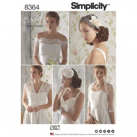 052b8001 Brude tilbehør snitmønster 8364 Simplicity