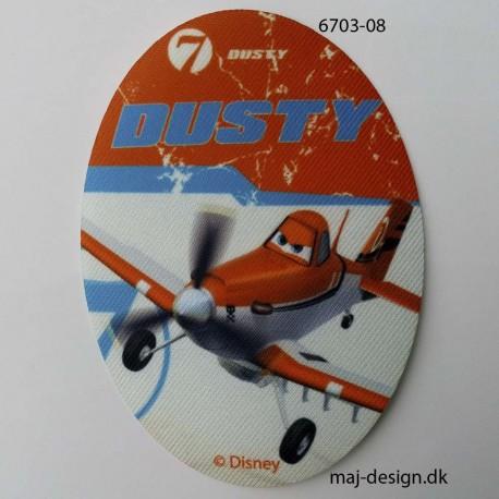 Dusty Mark Flyver printet strygelapper 11x8 cm