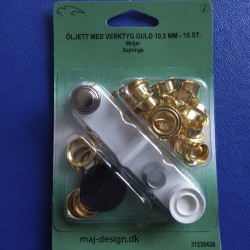 Snøreringe Guld 10,5mm