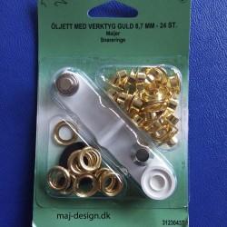 Snøreringe guld 8,7 mm