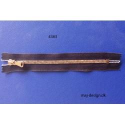 6mm metal lynlås ikke delbar kobber/brun 18cm