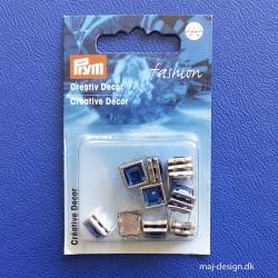 Pyntenitter Blå firkantet 8mm